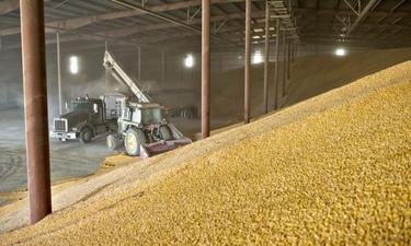 хранилище зерна трактор